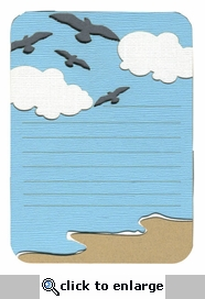 Seagulls At The Beach Journal Block Laser Die Cut