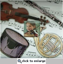Musical Instruments 12 x 12 Scrapbook Album