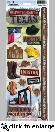 Texas 2 Cardstock Sticker