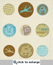 Time To Travel: Fabric Button Brads