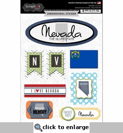 Nevada Journal - Dimensional Sticker