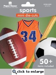 Sports Mini Die-Cut Assortments