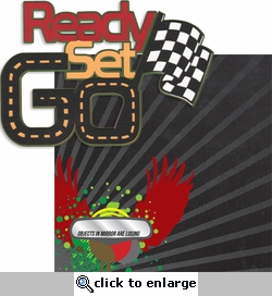Race Fan: Ready Set Go Laser Die Cut Kit