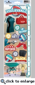 Volleyball Cardstock Sticker
