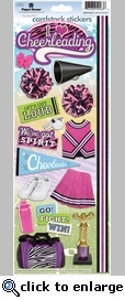 Cheerleadering Cardstock Sticker