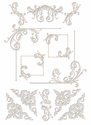 Digital Download: Silver Flourish Embellishment Pack