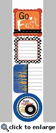 Rev 'Em Up: Fast Ride Cardstock Sticker