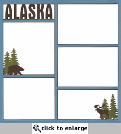 Alaska 12 x 12 Photo Overlay Laser Die Cut