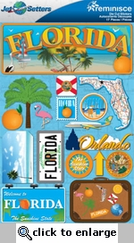 Jetsetters: Florida Die Cut Stickers