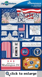 Jetsetters: Washington D.C. Die Cut Stickers