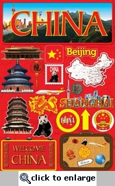 Jetsetters: China Die Cut Stickers