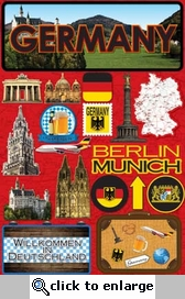 Jetsetters: Germany Die Cut Stickers