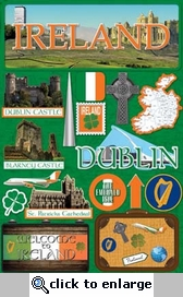 Jetsetters: Ireland Die Cut Stickers