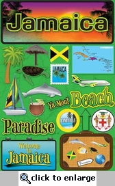Jetsetters: Jamaica Die Cut Stickers