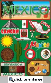 Jetsetters: Mexico Die Cut Stickers