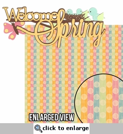 Bunny Hop: Welcome Spring 2 Piece Laser Die Cut Kit