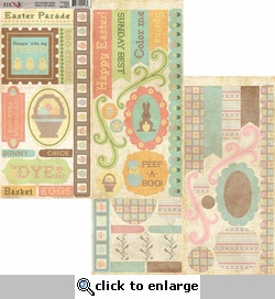 Homespun Easter 6 x 12 Double Sided Diecut