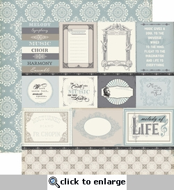 Melody of Life: Journaling 12 x 12 Double-Sided Paper