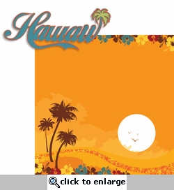Hawaiian Sunset: Hawaiian Sunset  2 Piece Laser Die Cut Kit