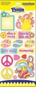 Peace: Glitter Cardstock Stickers