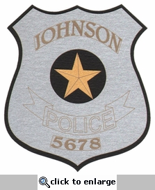 Custom Police Badge Laser Die Cut