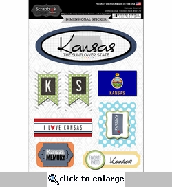 Kansas Journal - Dimensional Sticker