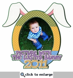 Picture with the Easter Bunny 2011 Laser Die Cut