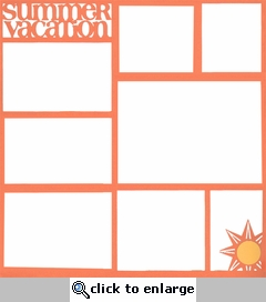 Summer Vacation 12 x 12 Photo Overlay Laser Die Cut