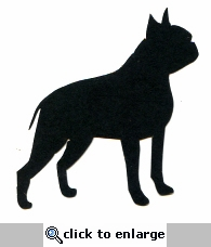 Boston Terrier Silhouette Laser Die Cut