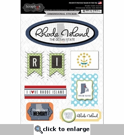 Rhode Island Journal - Dimensional Sticker