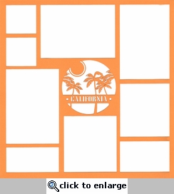 California Palm Tree 12 x 12 Overlay Laser Die Cut