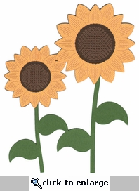 Sunflower Page Corner Laser Die Cut