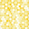 Honeycomb: Golden Yellow 12 x 12 Overlay