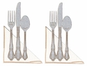 Fork, Knife, Spoon Photo Corner Laser Die Cut (2 pack)
