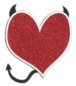 Devil Heart Glitter Laser Die Cut