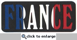 France Flag Laser Title Cut