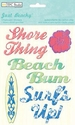 Just Beachy Chipboard Stickers