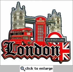 Travel-City: London Collage Laser Die Cut
