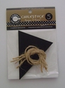 Chalkstock Triangle Tags and Ties