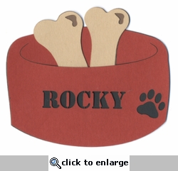 Custom Dog Bowl Laser Die Cut