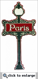 Travel-City: Paris Mini Sign Laser Die Cut