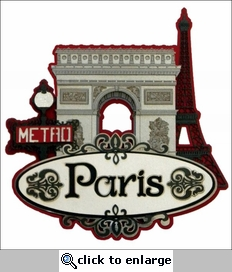 Travel-City: Paris Collage Laser Die Cut