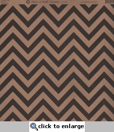 Black & Kraft Chevron 12 x 12 Cardstock