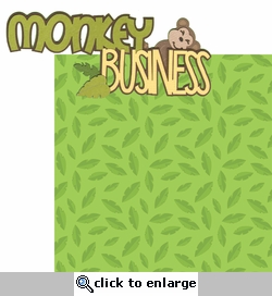 Monkey See Monkey Do: Monkey Business 2 Piece Laser Die Cut Kit
