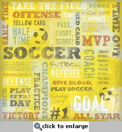 Soccer: Yellow Card Collage 12 x 12 Paper