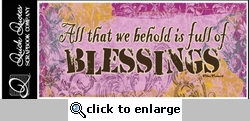 Blessings Color Vellum Strip