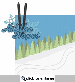 Hit The Slopes: Hit The Slopes 2 Piece Laser Die Cut Kit