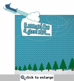 Winter Sports: Over the Mountain 2 Piece Laser Die Cut Kit