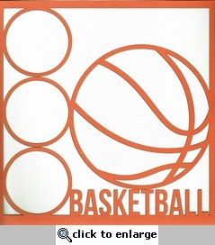 All Star: Basketball 12 x 12 Overlay Laser Die Cut