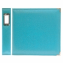 Aqua 12 x 12 Classic Leather Ring Album